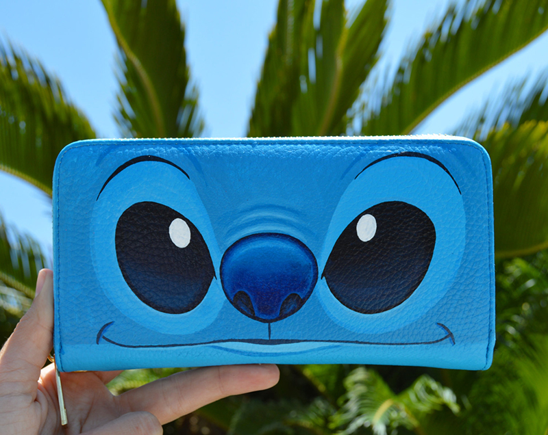 Stitch hand-painted wallet from Etsy