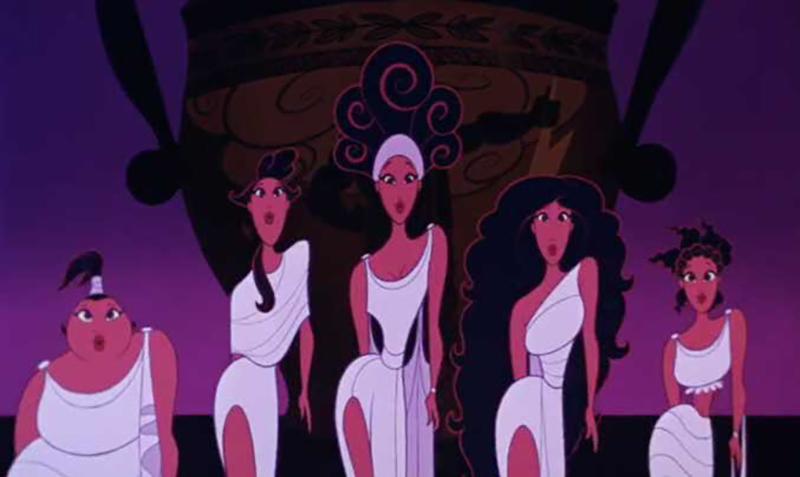 The Muses performing in Disney's animated movie Hercules