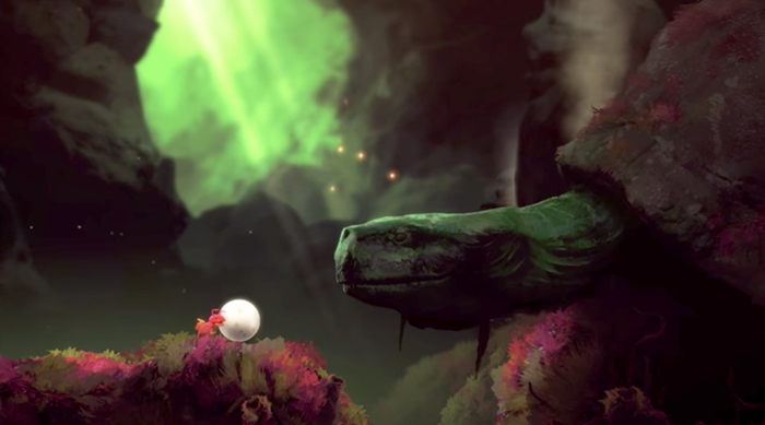 Yoku's Island Adventure: Yoku meets a tortoise