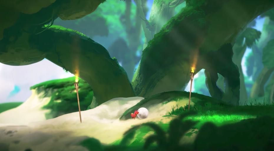 Yoku's Island Adventure: basic ball rolling