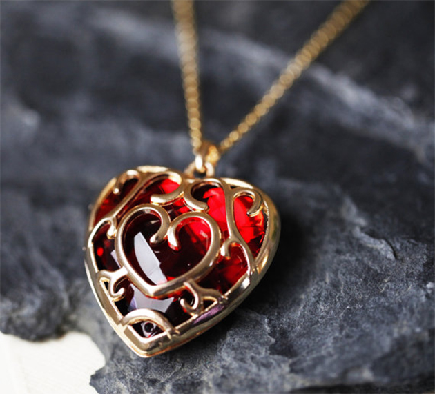 Zelda Heart Container Necklace: Fashionable Legend Of Zelda Clothes And Accessories