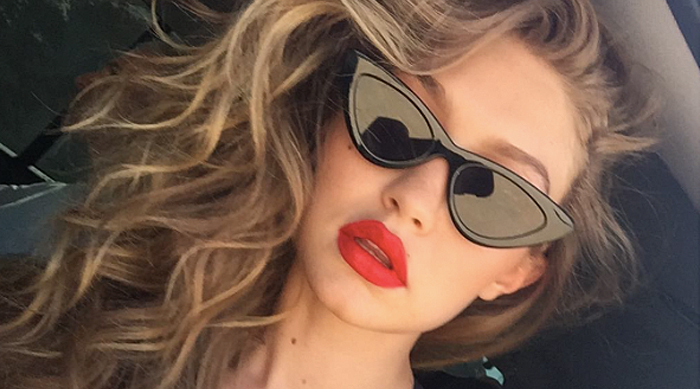 Gigi Hadid Adam Selman Le Specs Cat Eye Sunglasses