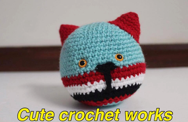 Crochet cat stress relief ball from Etsy