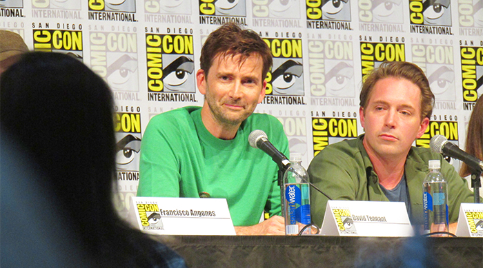David Tennant smiles at Comic-Con DuckTales panel