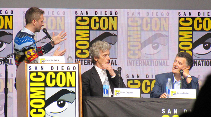 Doctor Who: Chris Hardwick and Steven Moffat talk with Peter Capaldi listens