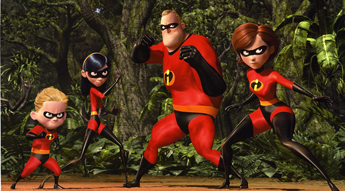 The Incredibles getting ready to fight in Disney Pixar's The Incredibles