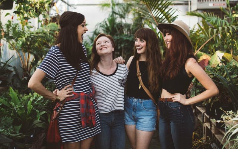 Four Friends in a Greenhouse