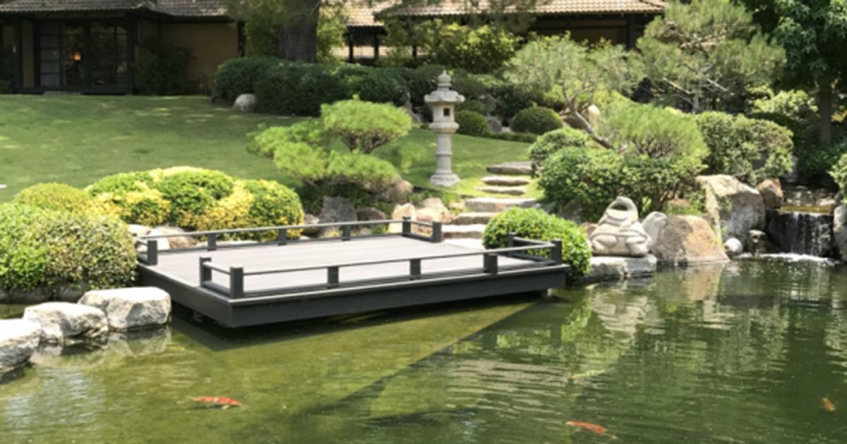 Golden Door koi pond