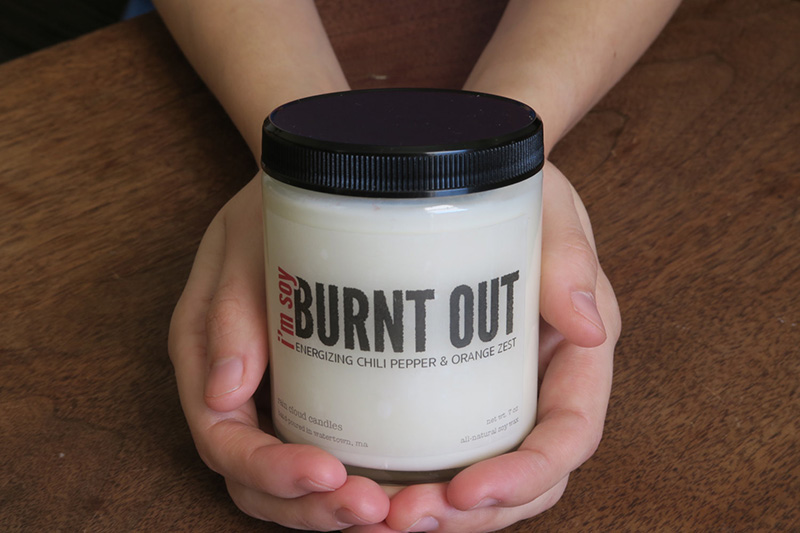 I'm soy burnt out candle from Etsy