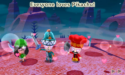 Miitopia: Everyone loves Pikachu