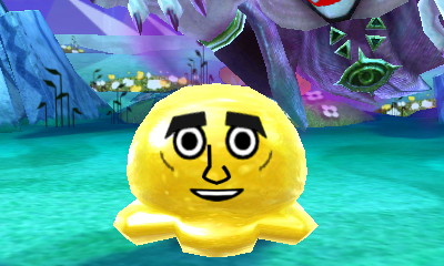 Miitopia: Blob monster with child's face