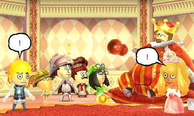Miitopia: The king surprises party with news