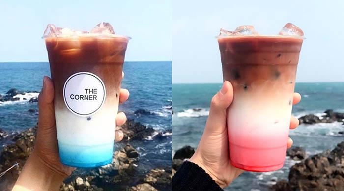 Ombré drinks from The Corner Café in South Korea