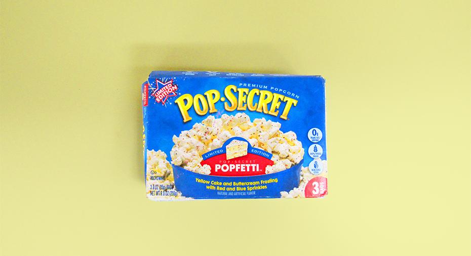 Pop Secret Popfetti box