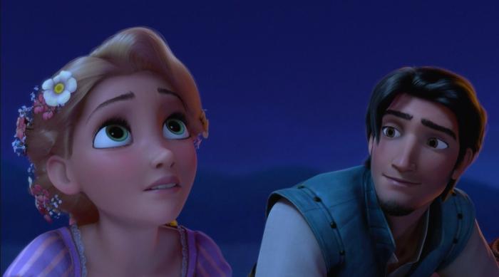Flynn Stares Lovingly at Rapunzel