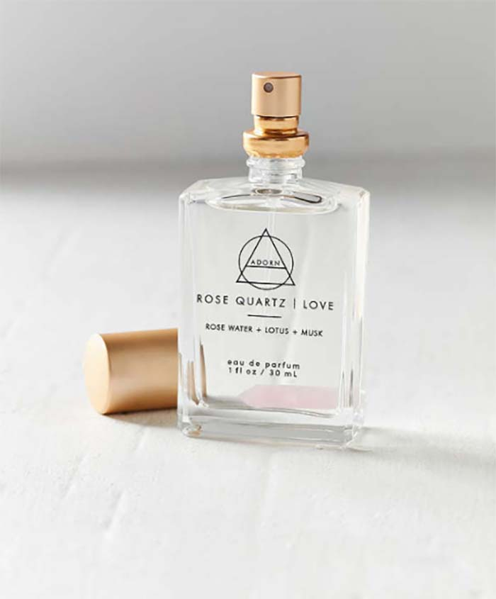 Rose Quartz infused fragrance from Urban Outfitters