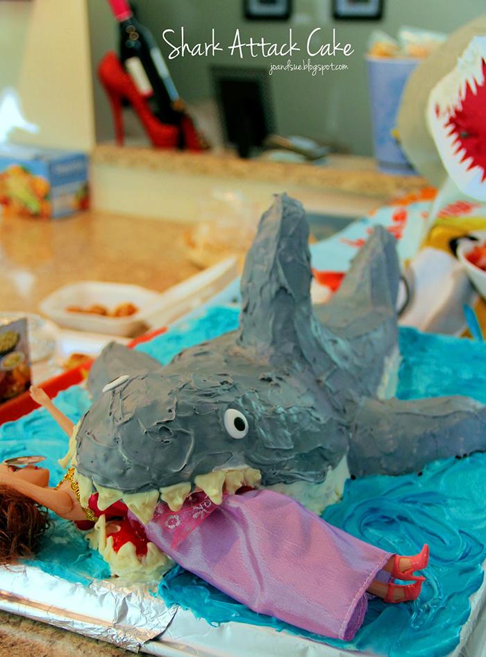 Shark Attack Cake recipe for Shark Week