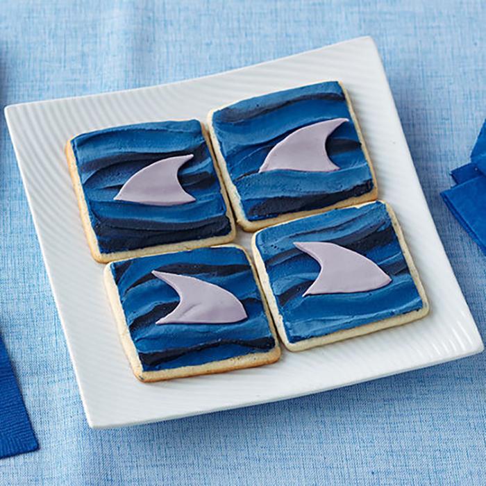 Shark Fin Cookies for Shark Week