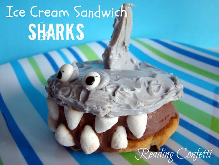Shark Ice Cream Sandwich recipe for Shark Week