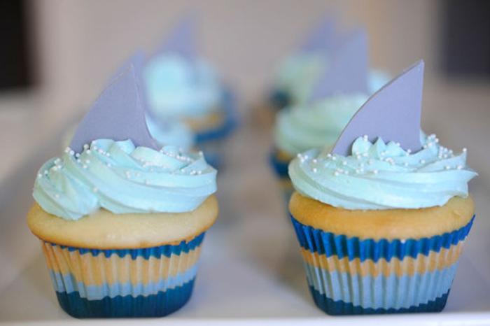 Shark Bite Cupcakes recipe for Shark Week