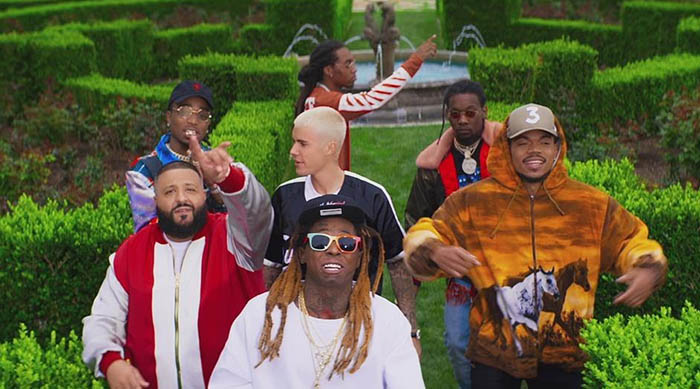 "Music video for ""I'm the One"" by DJ Khaled feat. Justin Bieber, Chance the Rapper, Quavo and Lil Wayne"