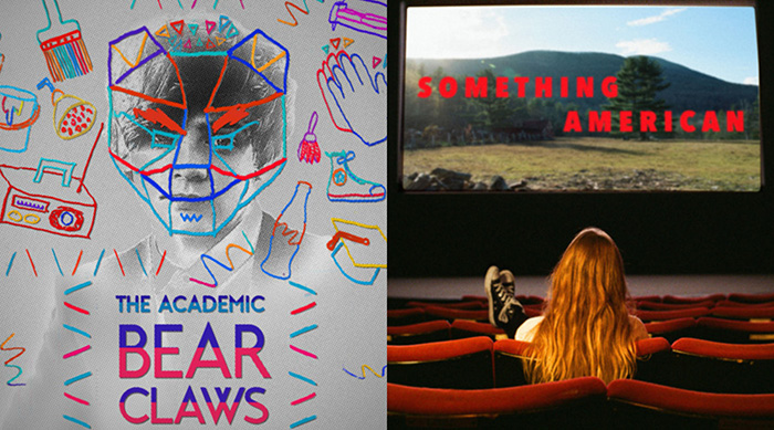 "The Academic ""Bear Claws"" single artwork and Jade Bird ""Something American"" album cover artwork side by side"