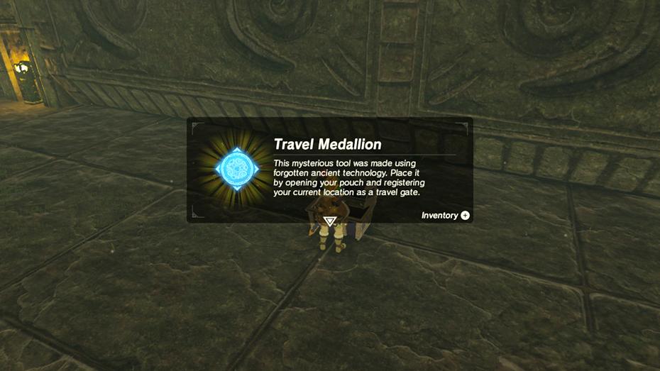 The Legend of Zelda: Breath of the Wild - The Master Trials DLC travel medallion capture