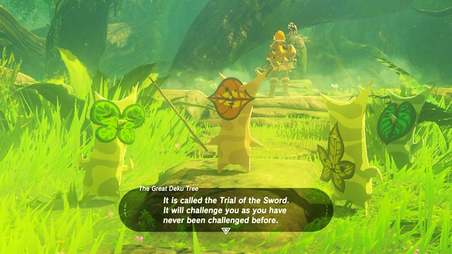 The Legend of Zelda: Breath of the Wild - The Master Trials DLC Koroks reenacting trial of the sword