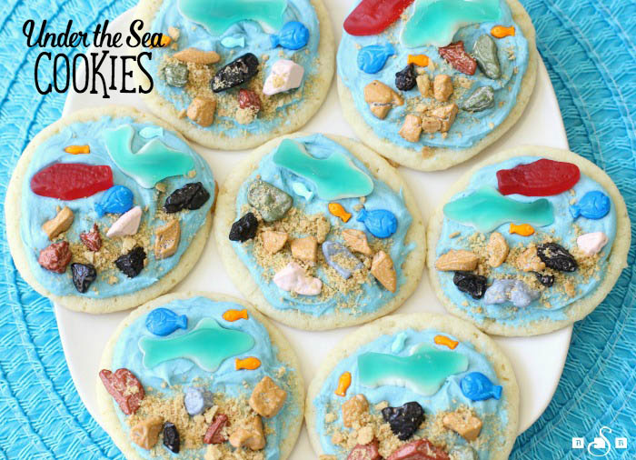 Under the Sea cookies recipe for Shark Week