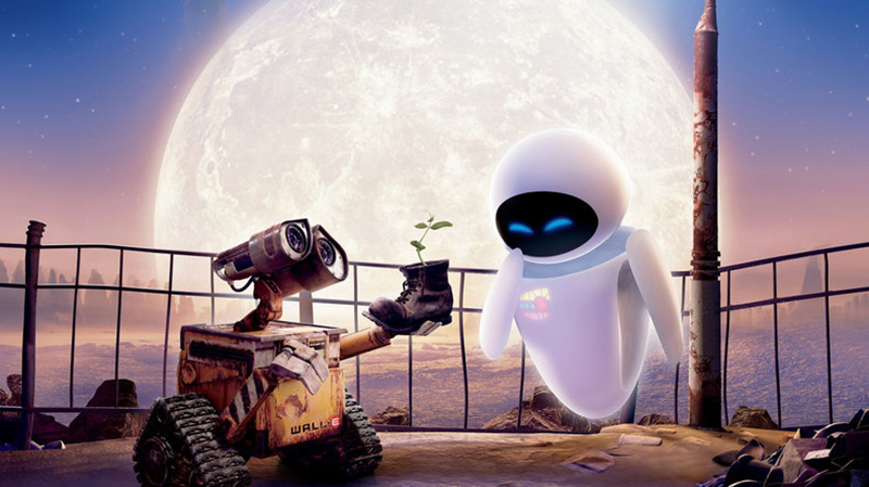 WALL-E and Eve in Disney Pixar's WALL-E