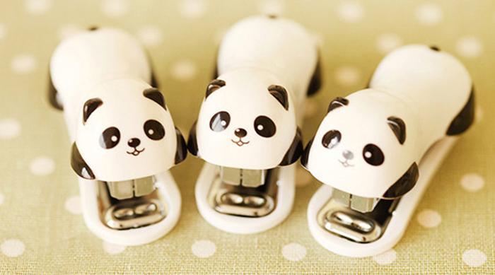 Panda staplers from Etsy