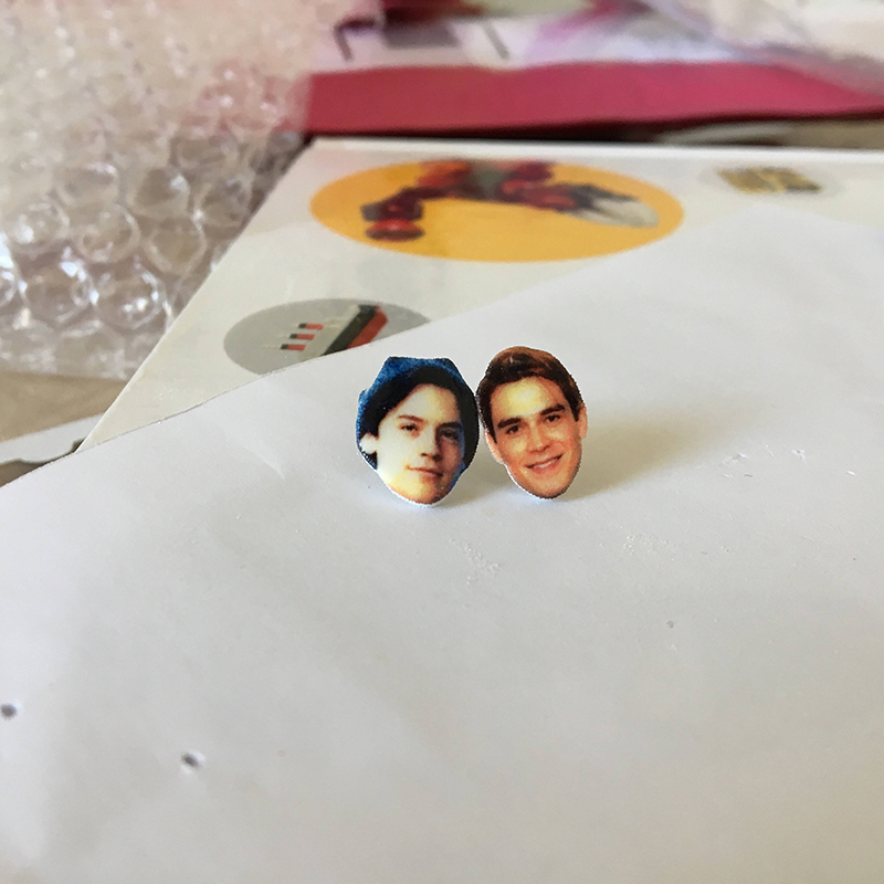 Archie and Jughead earrings from Etsy