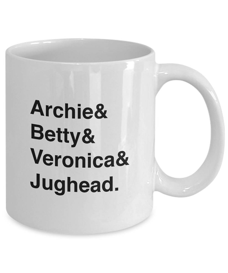 Archie & Betty & Veronica & Jughead mug from Etsy
