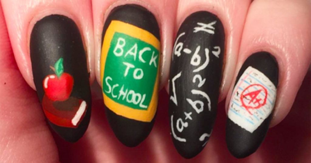 Back to School-Inspired Nail Art Designs
