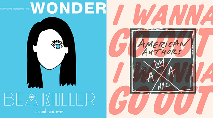 "Single art for Bea Miller's song ""Brand New Eyes"" and American Authors' new song ""I Wanna Go Out"""