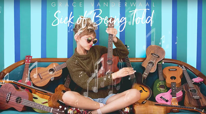"Single artwork for Grace VanderWaal's ""Sick of Being Told"""