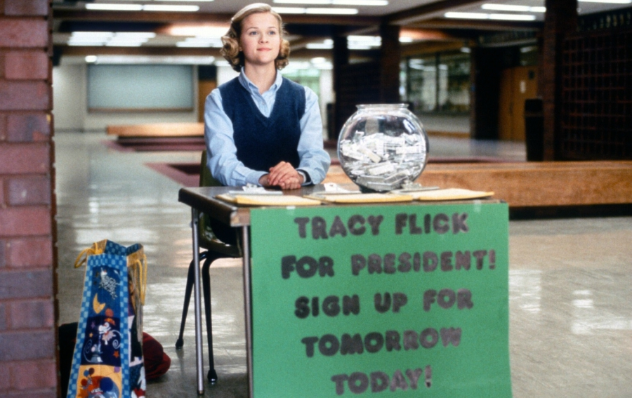 Still from Election, class president
