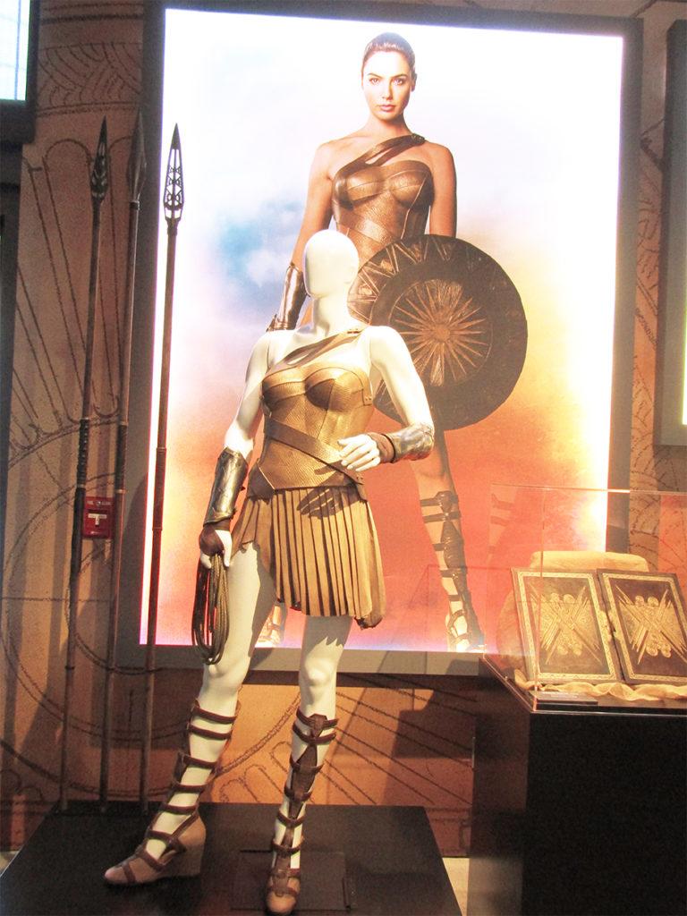 Wonder Woman's Amazonian outfit on Themyscira