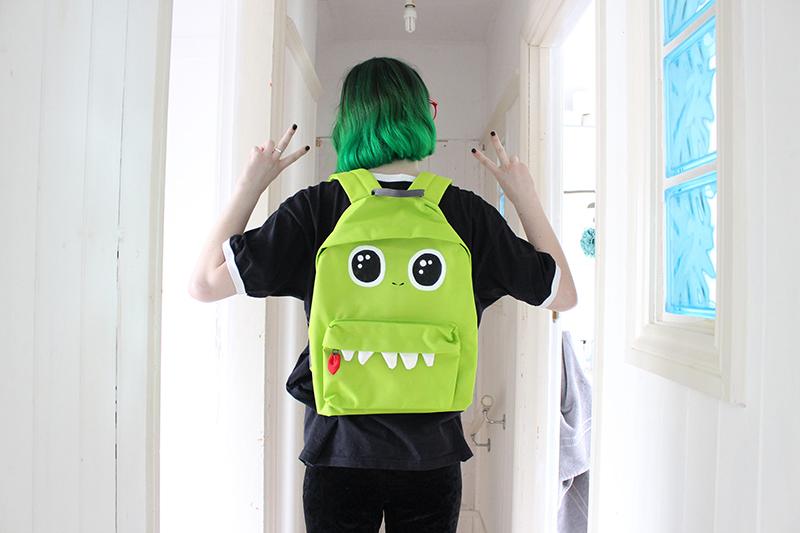 Dinosaur backpack from Etsy