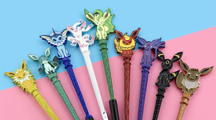 Pokémon Eeveelution makeup brushes by SimbaeShop