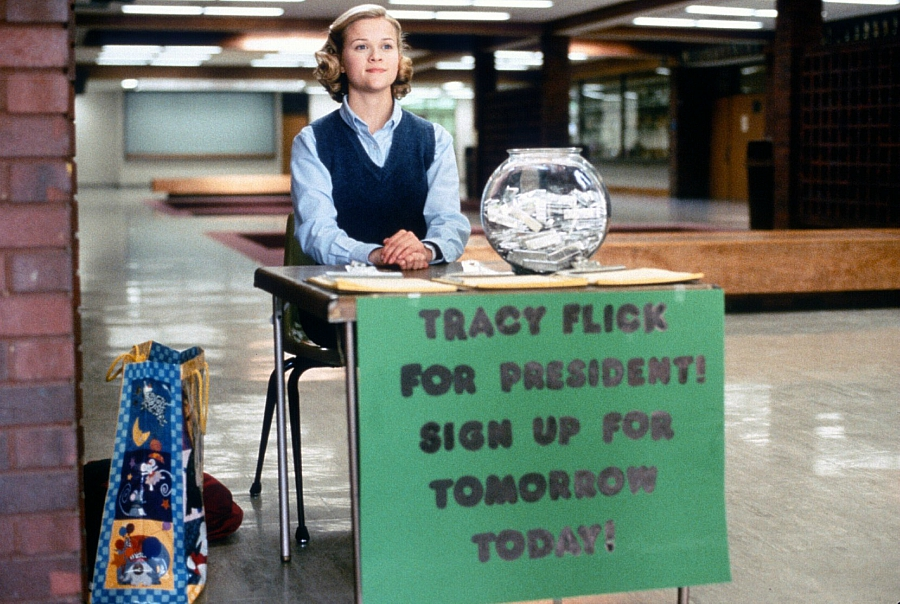 Vote for Tracy Flick image still from Election