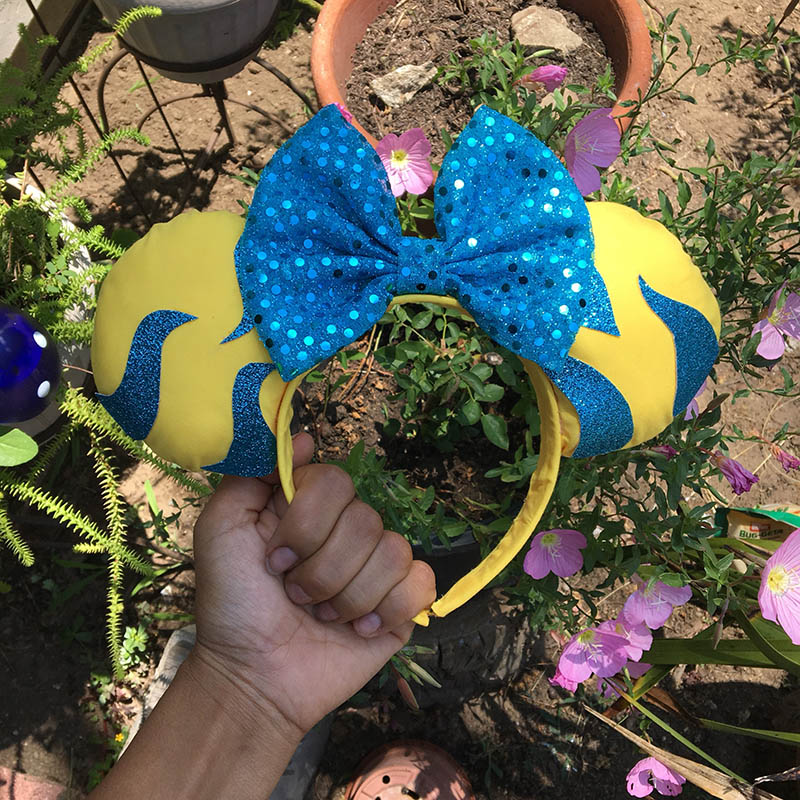 Flounder-inspired Minnie Mouse ears from Etsy