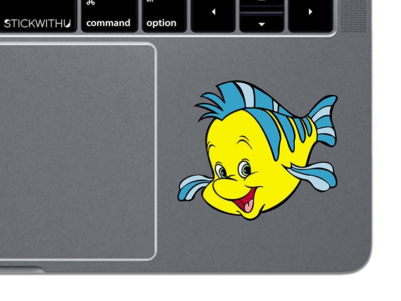 Flounder laptop decal from Etsy