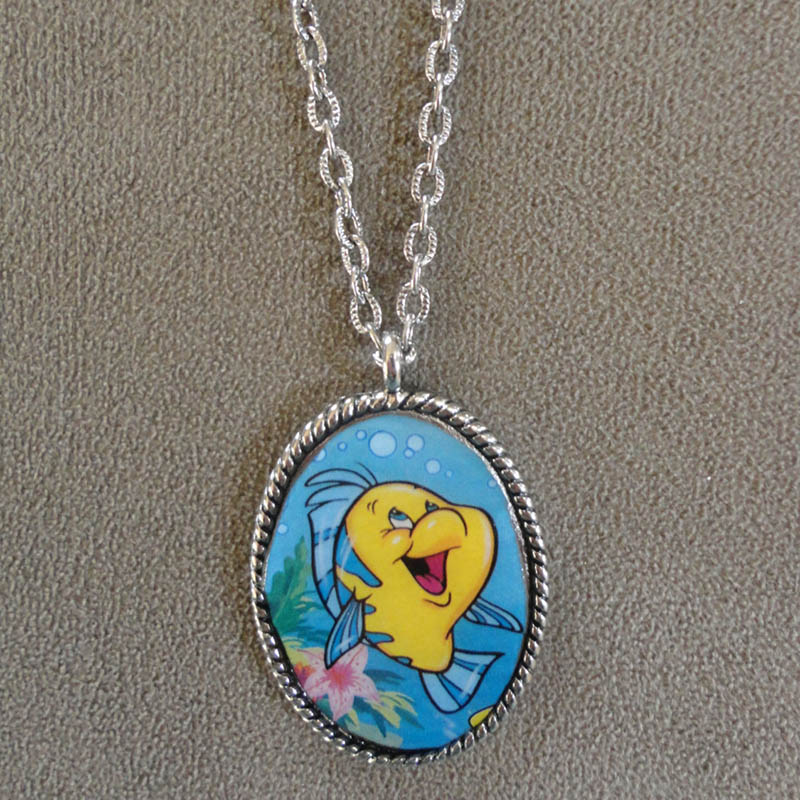 Flounder necklace from Etsy