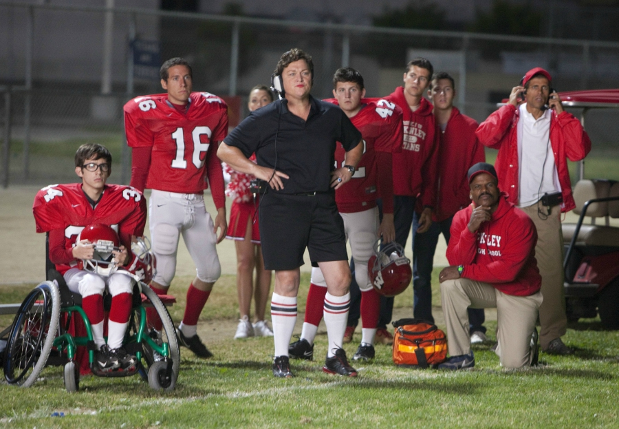 Glee football jocks on field
