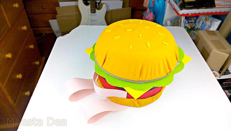 Hamburger backpack from Etsy