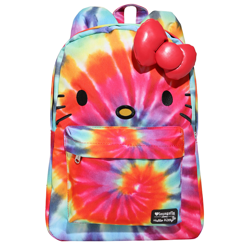 Hello Kitty tie dye backpack from Hot Topic