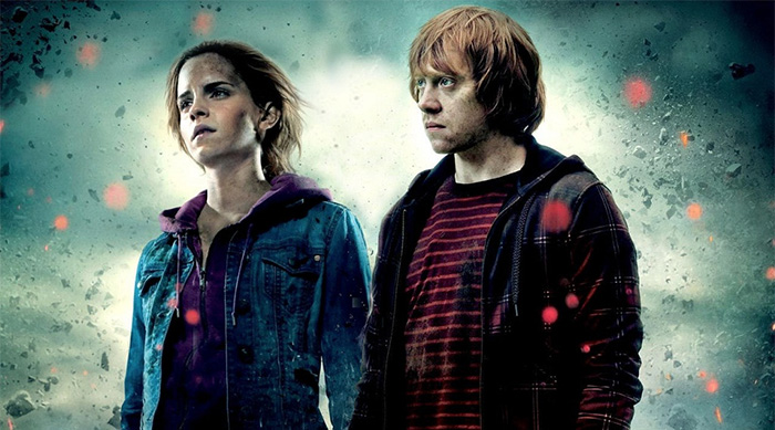 Hermione Granger and Ron Weasley in the Deathly Hallows