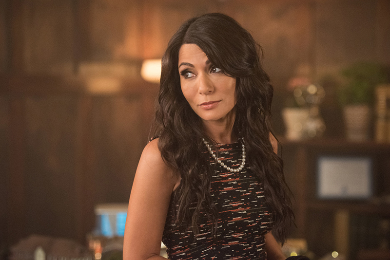 "Riverdale -- ""Chapter Four: The Last Picture Show"" -- Image Number: RVD104a _0442.jpg -- Pictured: Marisol Nichols as Hermione Lodge -- Photo: Dean Buscher /The CW -- © 2017 The CW Network. All Rights Reserved"