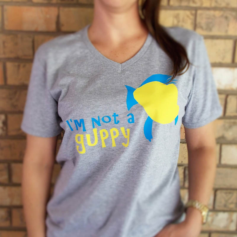 """""""I'm Not a Guppy"""" Flounder-inspired T-shirt from Etsy"""